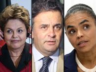 Coligações partidárias: Dilma, Aécio e Eduardo Campos